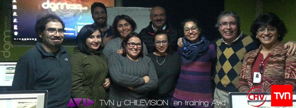 TVN y Chilevisión en trainibg